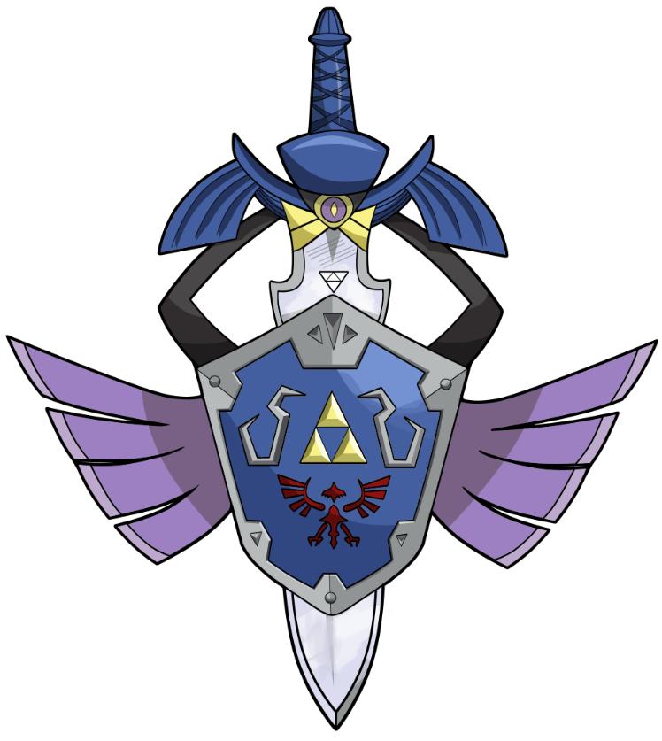 Pin By James Harris On Zelda Fans Arts Pokemon Crossover Master Sword Pokemon