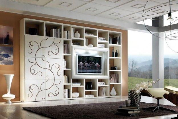 Arredare un salotto lungo e stretto in 2019 living room for Parete attrezzata per soggiorno