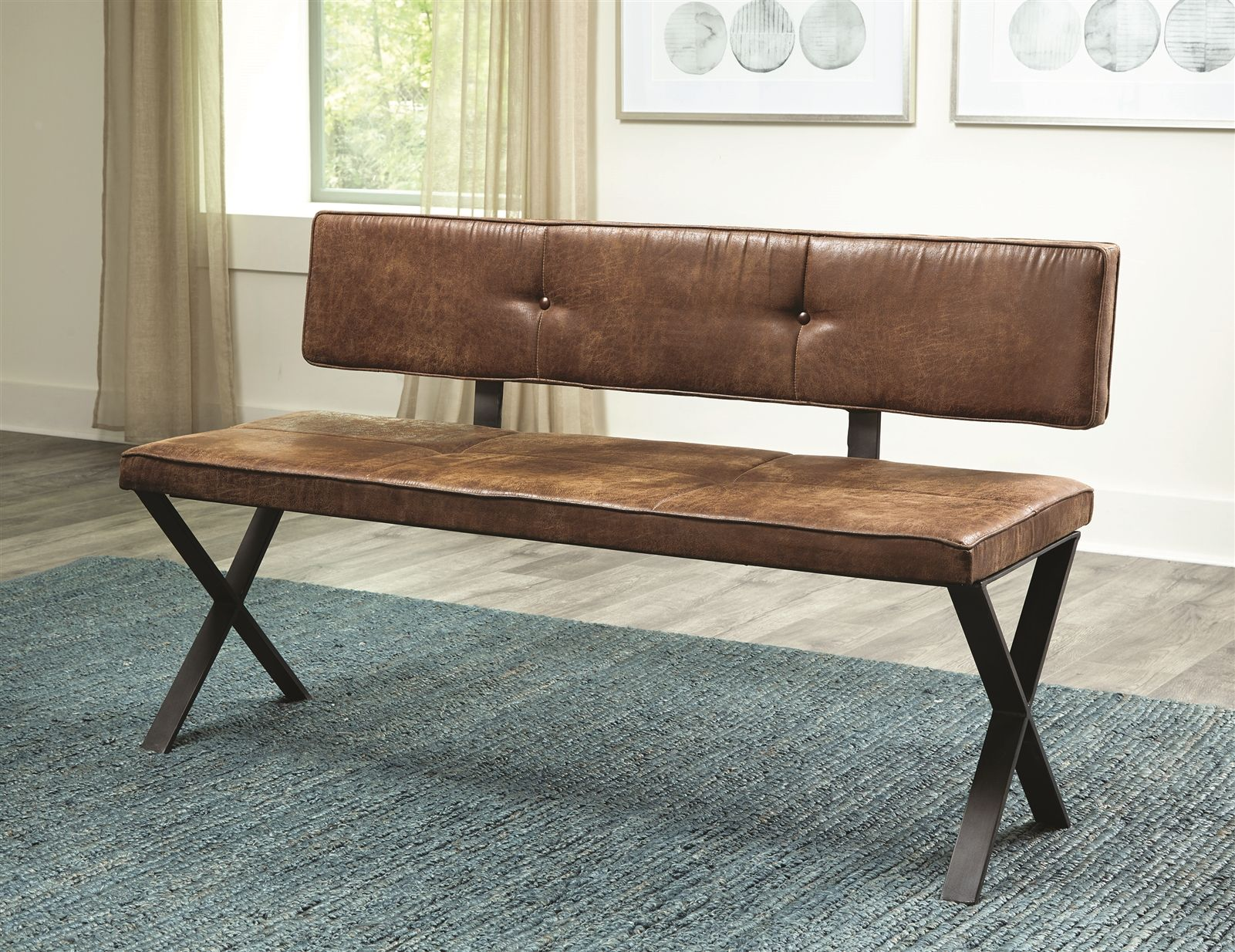 Ross Dining Bench With Nailheads Dining Bench With Back Dining Bench Upholstered Dining Bench