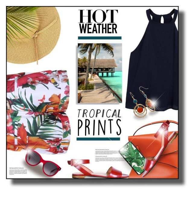 """""""Hot Weather"""" by rigginsbabygirl ❤ liked on Polyvore featuring Ted Baker, MANGO, Lodis, Dolce&Gabbana, New Directions, Alexander McQueen and Matthew Williamson"""