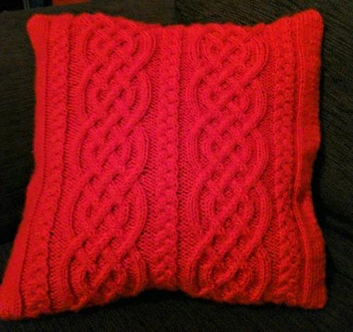 Celtic Knit Aran Pillow in 2020 | Knitting, Aran knitting ...