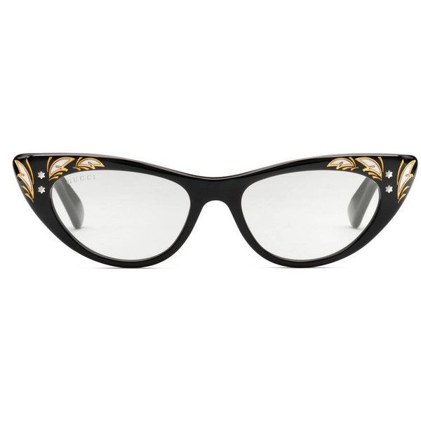 Gucci Cat Eye Sunglasses ($315) ❤ liked on Polyvore featuring accessories, eyewear, sunglasses, black, women, acetate glasses, cateye sunglasses, gucci sunglasses, gucci glasses and transparent sunglasses