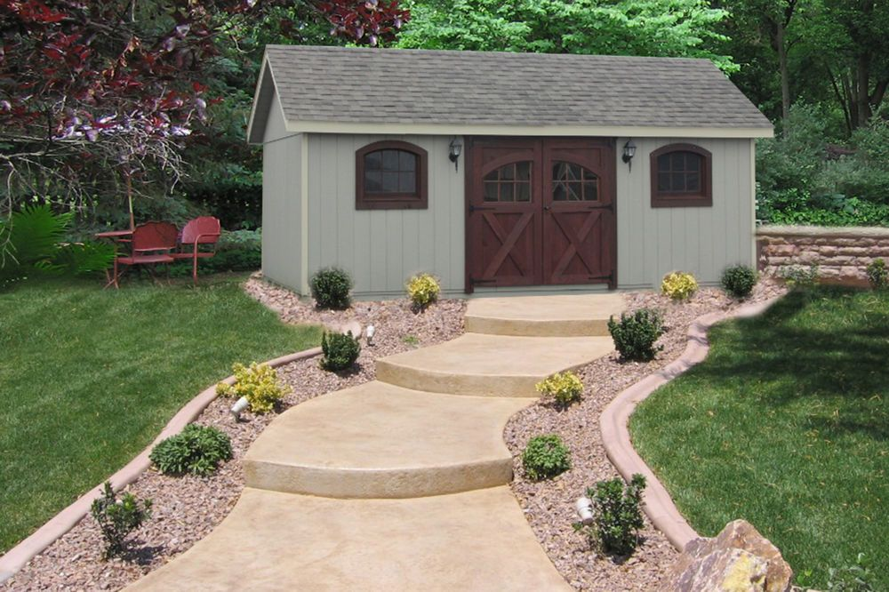 Amish Built 12x20 A Frame Wood Storage Shed With Garden Carriage Package Backyard Storage Sheds Wood Storage Sheds Shed