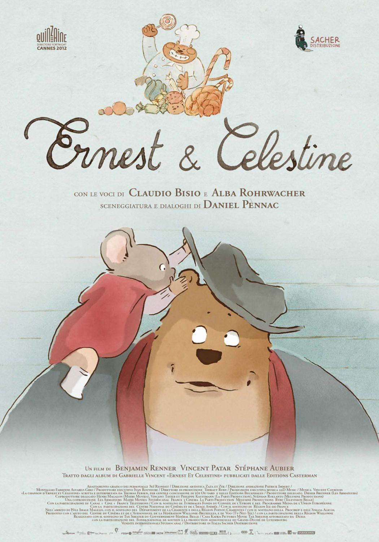 Ernest And Celestine Poster Italia Screenweek Cartoni Animati Film Di Animazione Cartone Animato