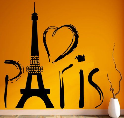 Paris Eiffel Tower Europe Tourist Mural Wall Art Decor Vinyl Sticker ...