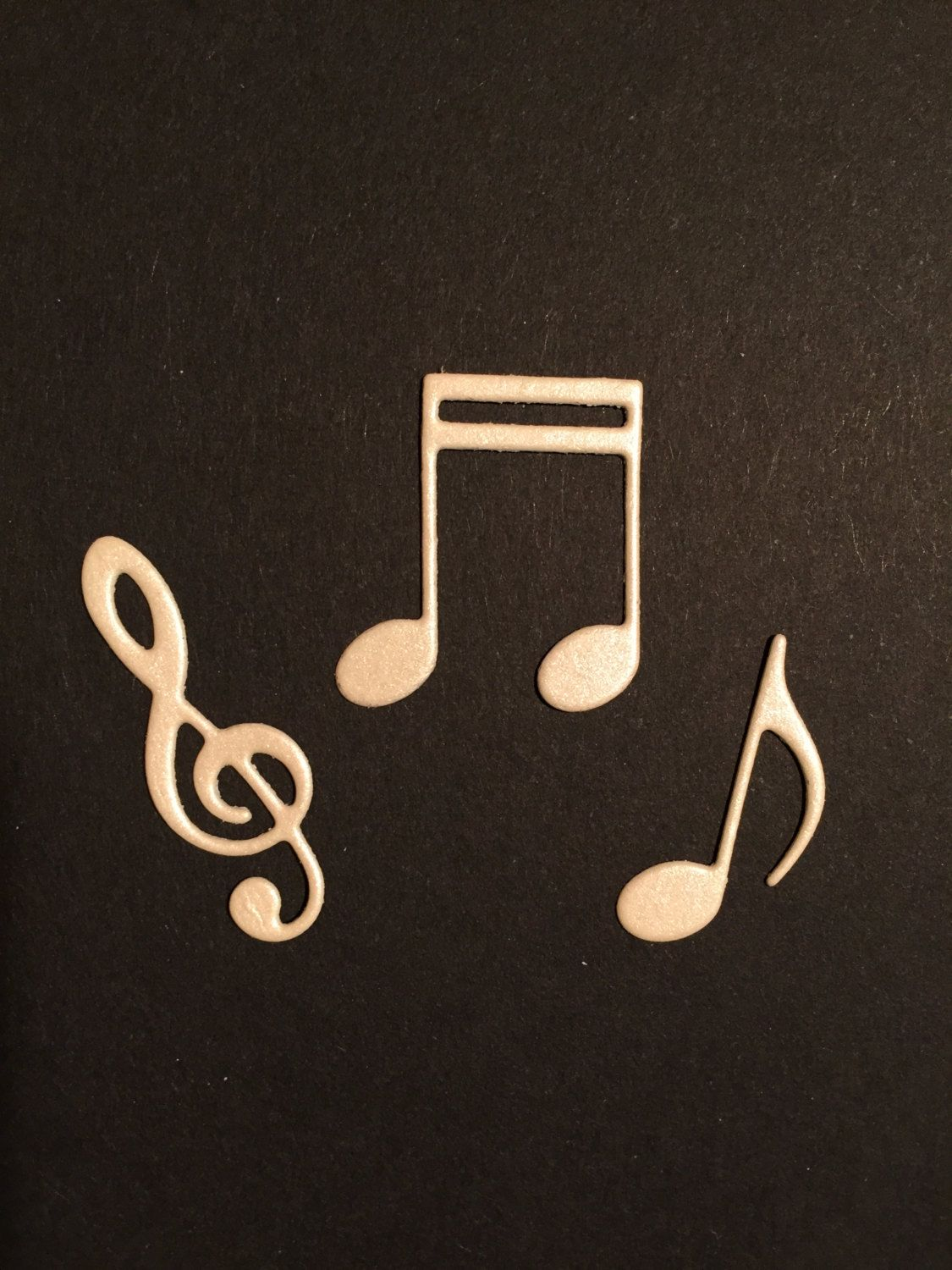 Music NOTES and TREBLE CLEF Die Cuts - Embellishment, Scrapbooking ...
