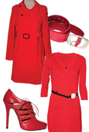 In a red dress and gold shoes will seem very seductive and attractive.   The combination of gold accessories with a bright red dress is a big hit.    An elegant high bun is a real summer hit.  Be a lady of style this summer in red gold appare