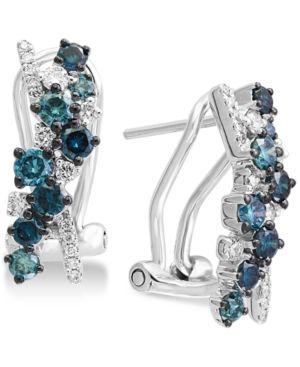 fbfd08f2e58d36 Effy Diamond Drop Earrings (1 ct. t.w.) in 14k White Gold - Gold ...