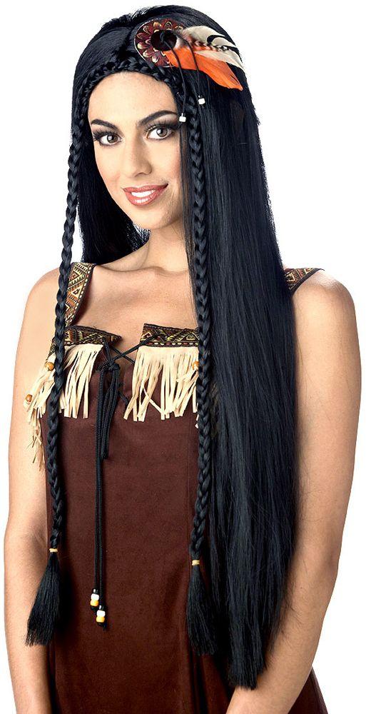 long braided black indian wig