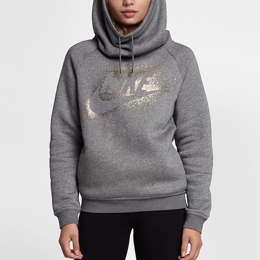 Nike Sportswear Rally Funnel Neck Sudadera con capucha de tejido Fleece -  Mujer 7b3661ce816