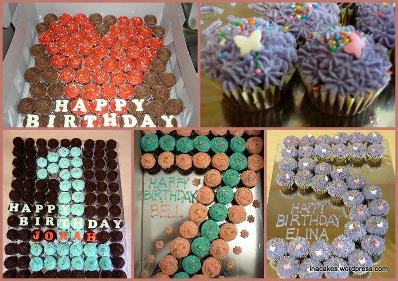 Cupcakes Shaped Like Numbers