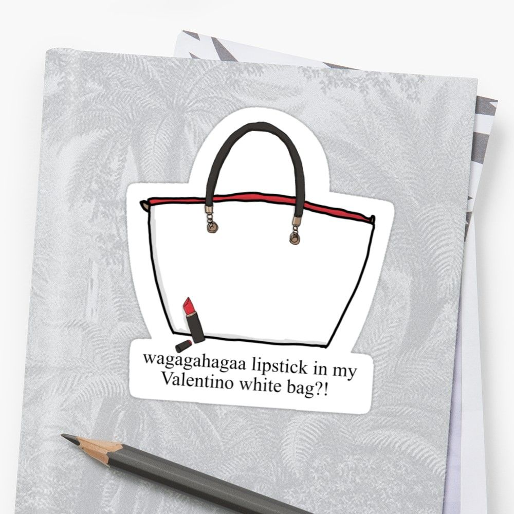 Lipstick in my Valentino white bag !  Sticker by Samantha Lynn  690a6b5adc2f2