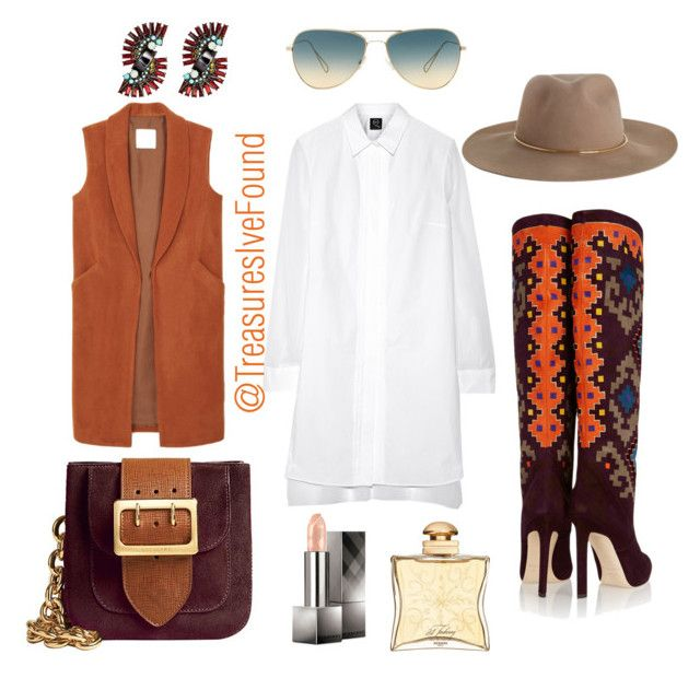 """""""#Sassy #Shopping #NewYork #LA #Hollywood"""" by treasures-ive-found on Polyvore featuring McQ by Alexander McQueen, Brian Atwood, Zimmermann, Oliver Peoples, Burberry, Elizabeth Cole, Hermès and MANGO"""