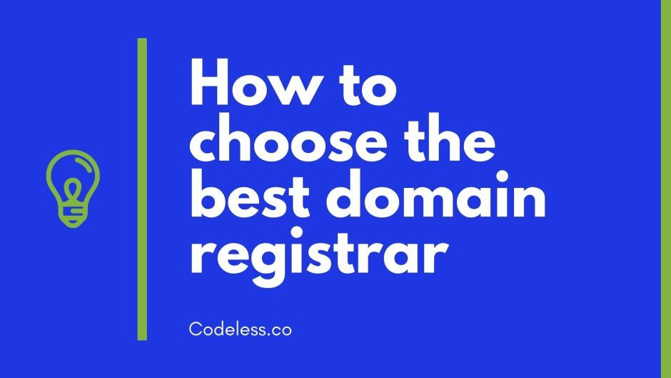 How To Choose The Best Domain Name Registrar In 2020 Review In