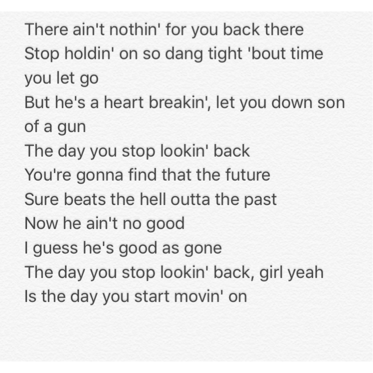 Lyric polar express lyrics : Thomas Rhett - The Day You Stop Looking Back... This one is ...