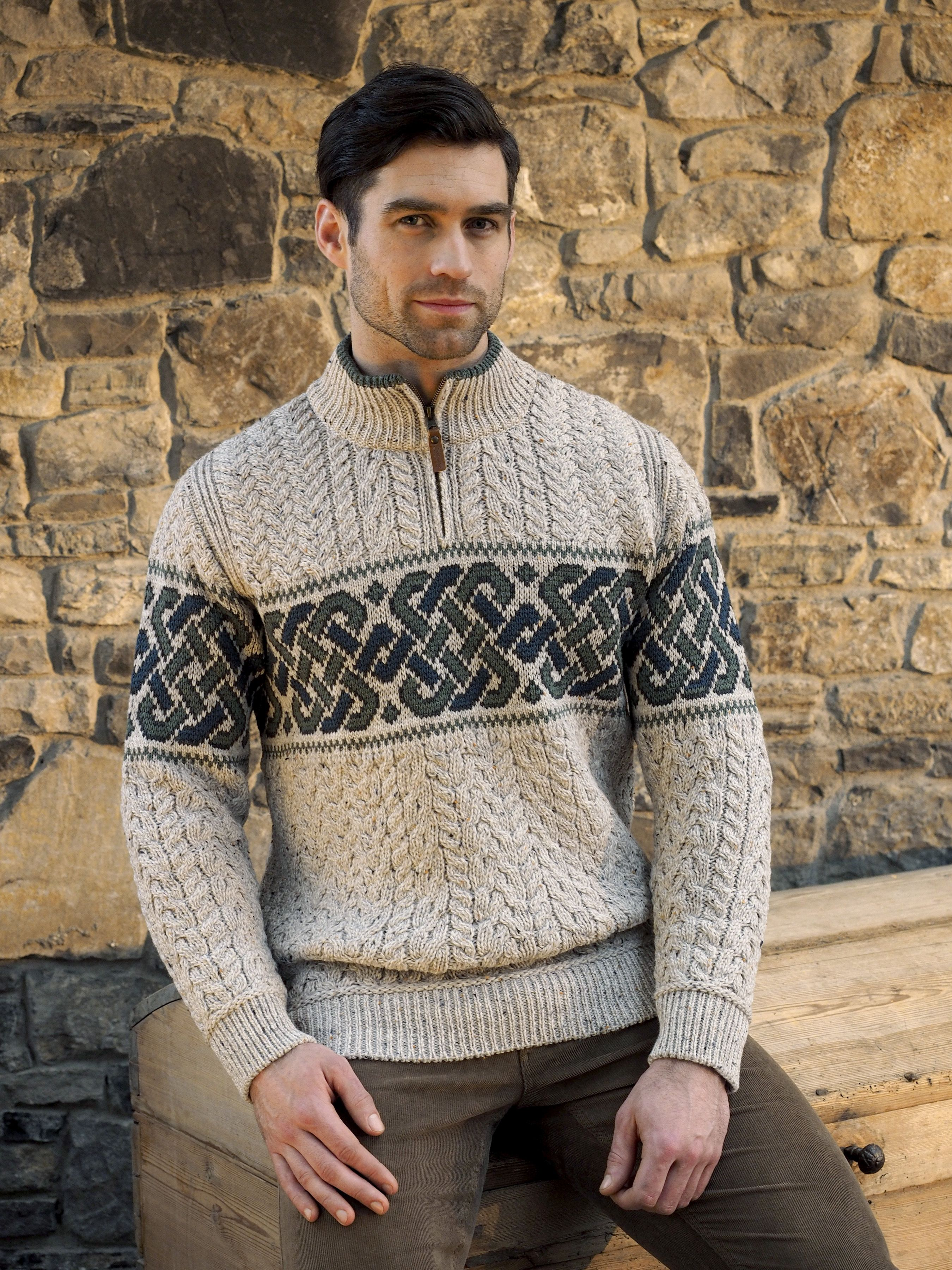 Celtic Jacquard Sweater by Natallia Kulikouskaya for