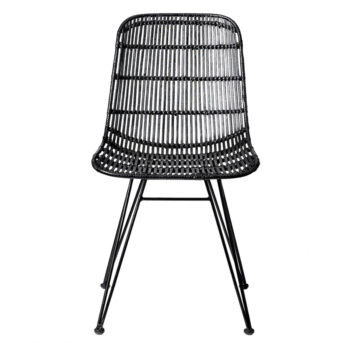 chaise rotin darling noir bloomingville - Chaise Rotin Noir