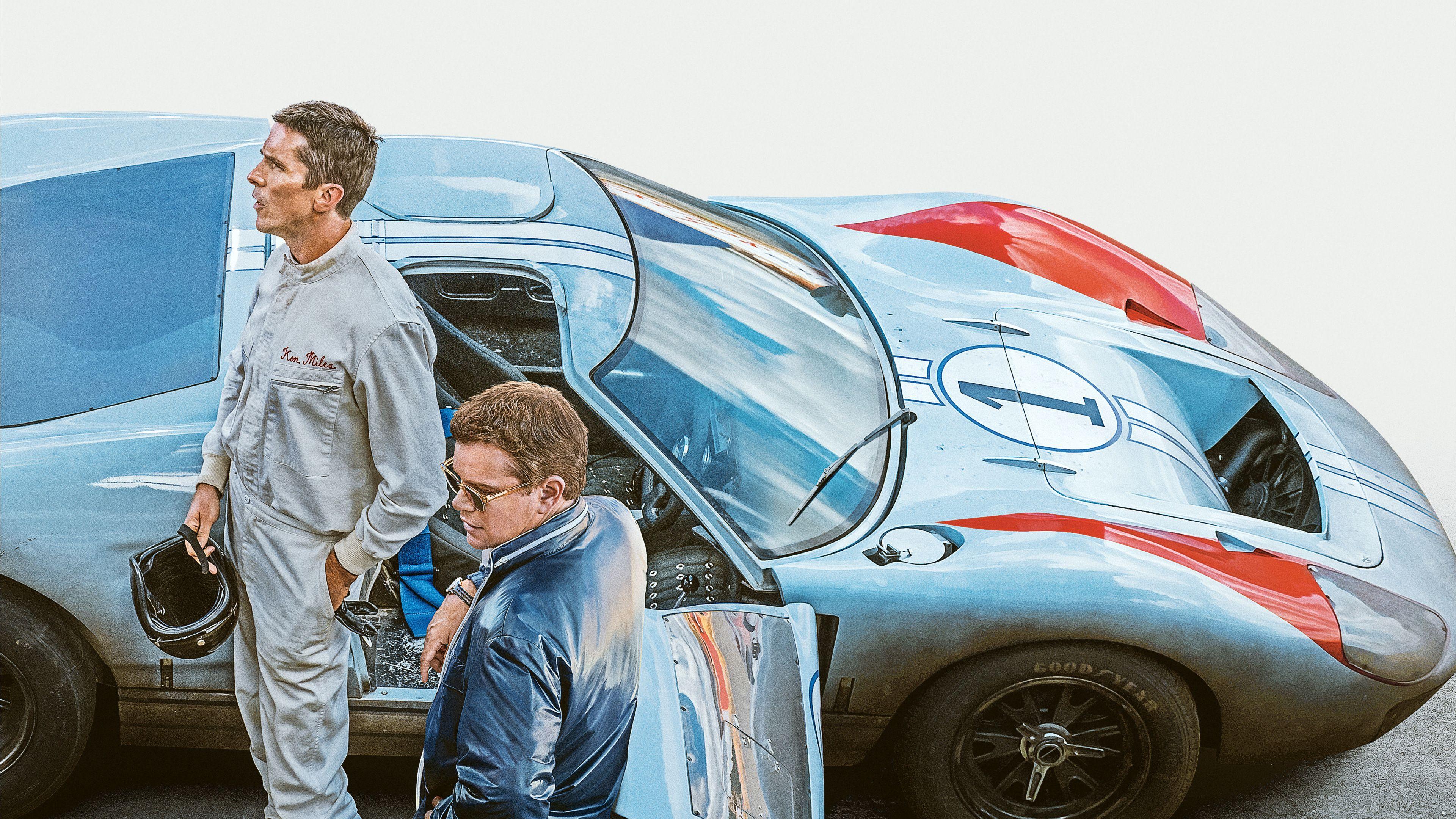 3840x2160 Ford V Ferrari Christian Bale Matt Damon 2019 Movie Wallpaper Ken Miles Ferrari Poster Ferrari