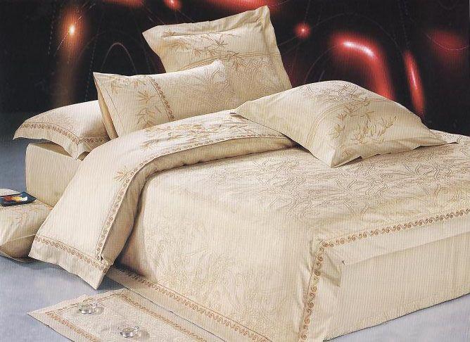 Komplet Poscieli Atlasowej Z Haftem Wzor 026 220x200 Bedroom Home Furniture