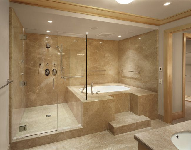 Beige Bathroom Designs Extraordinary Creamshowermarbleslabpolishedbeigeitalybathroomhi  Bath Review