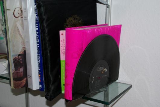 Vinyl Buchstutze Buchstutze Aus Schallplatten Basteln Vinyls