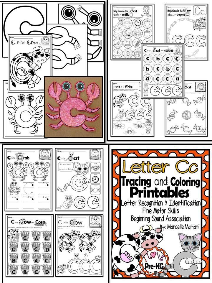 Pre-KG Alphabet Worksheets- LETTER Cc Printables- Tracing, coloring ...
