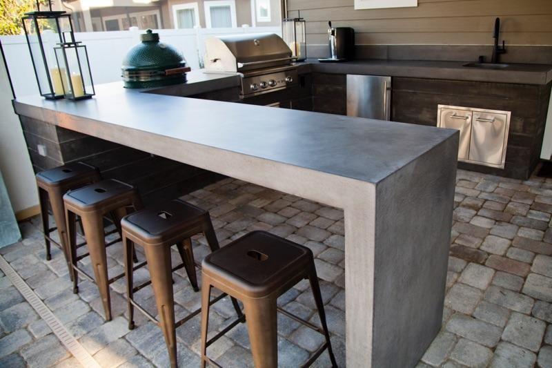 Concrete Commander Florida Concrete Outdoor Kitchen Outdoorkitchencountertops Concrete Outdoor Kitchen Outdoor Kitchen Countertops Kitchen Remodel Countertops
