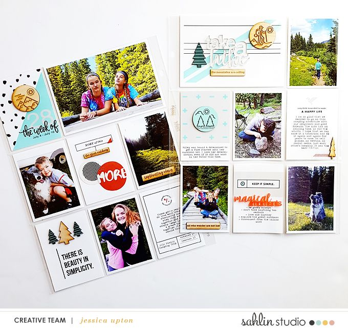 Hiking Outdoors Beauty in Simplicity Project Life layout using Simplify collection  by Sahlin Studio