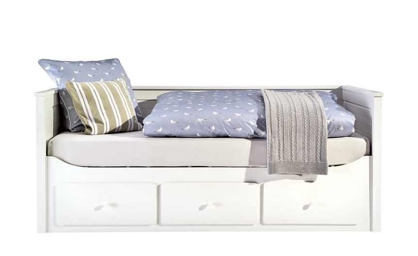 Landhaus Tagesbett 90x200 Mit Schubkasten Weiß Merton