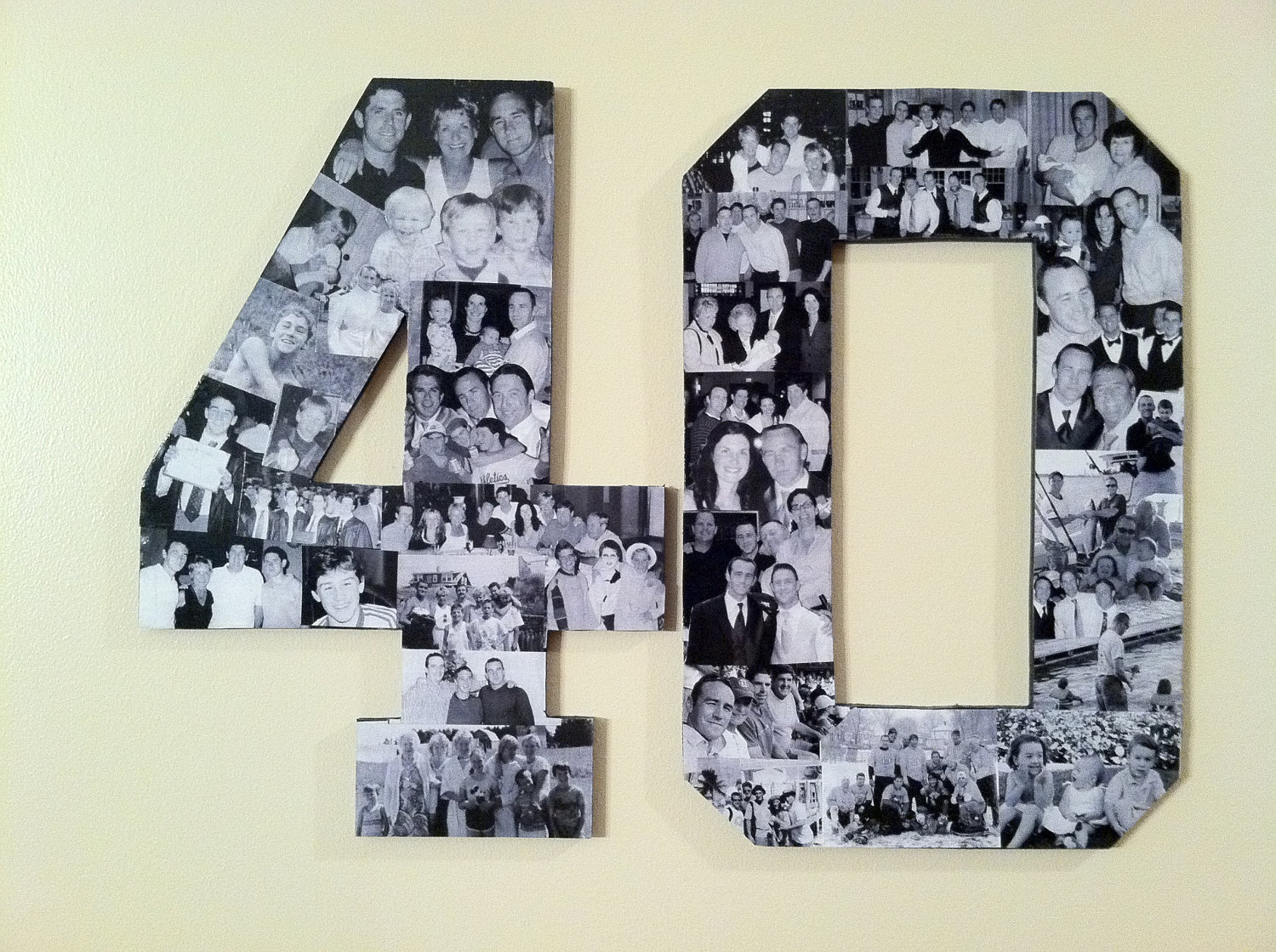 Custom Alphabet Collage Numbers For Any Birthday 79 80 Via Etsy