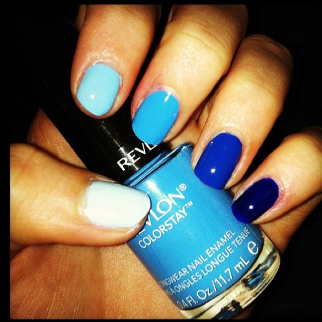 #nails #blue #beauty #style #nailpolish #cute