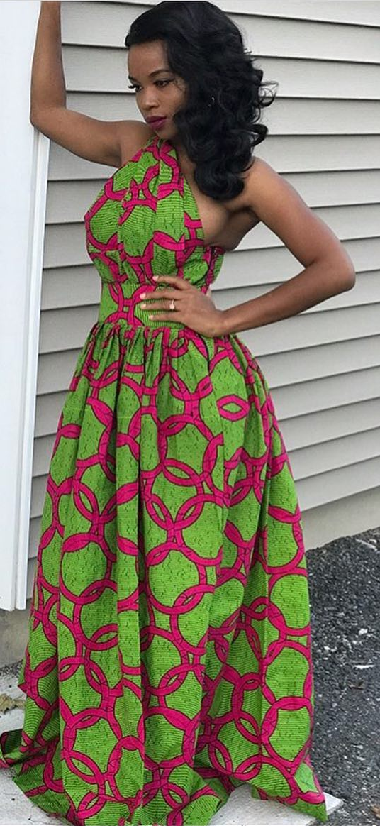 African Print Long Dress African Fashion Ankara Kitenge African Women Dresses African African Fashion African Dresses For Women African Fashion Designers