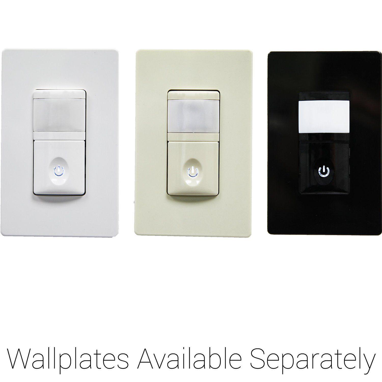 Enerlites HMOS-J PIR Occupancy/Vacancy Motion Sensor Wall Switch ...