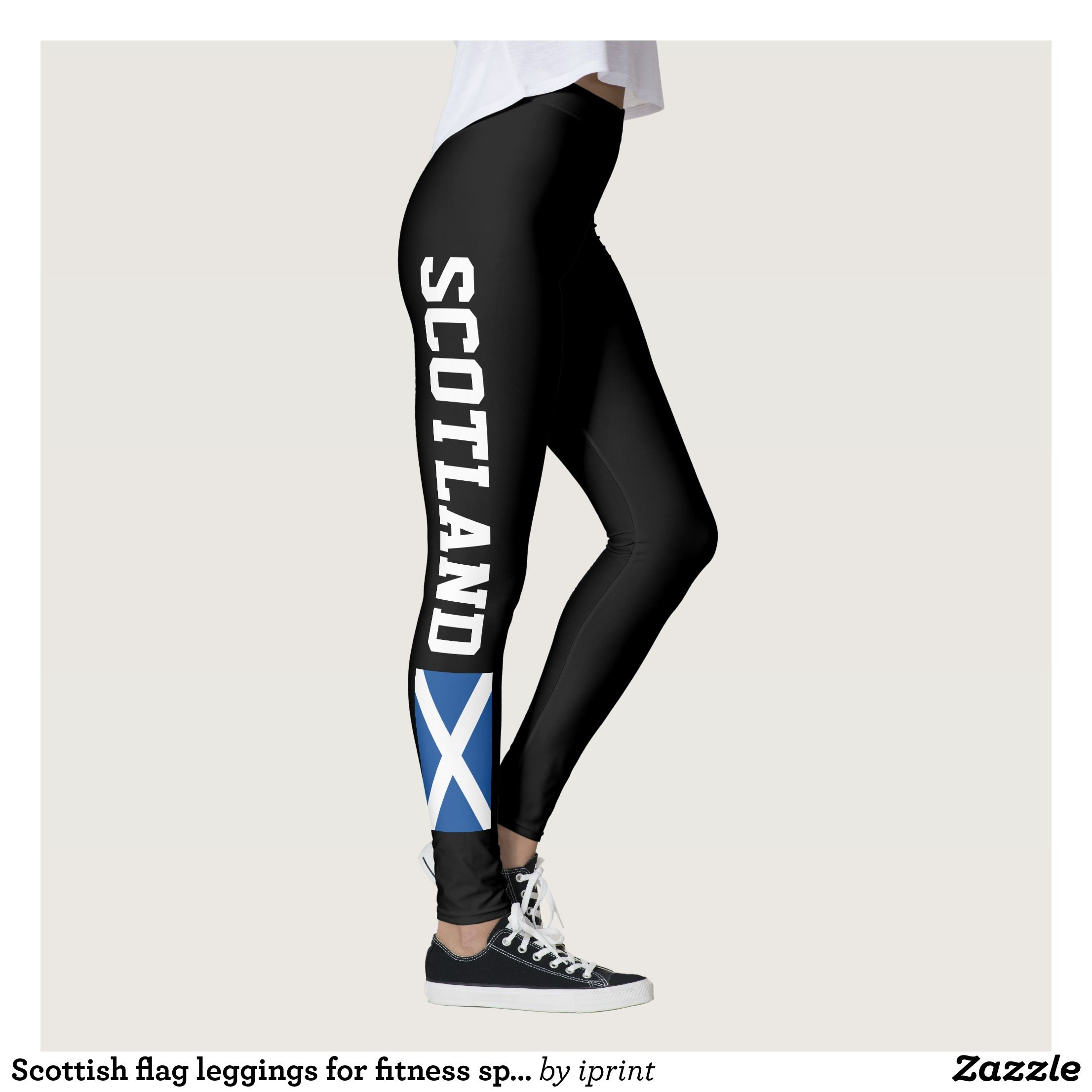 Womens National Flag Print 4 Way Stretch Fitness Workout Running Yoga Leggings