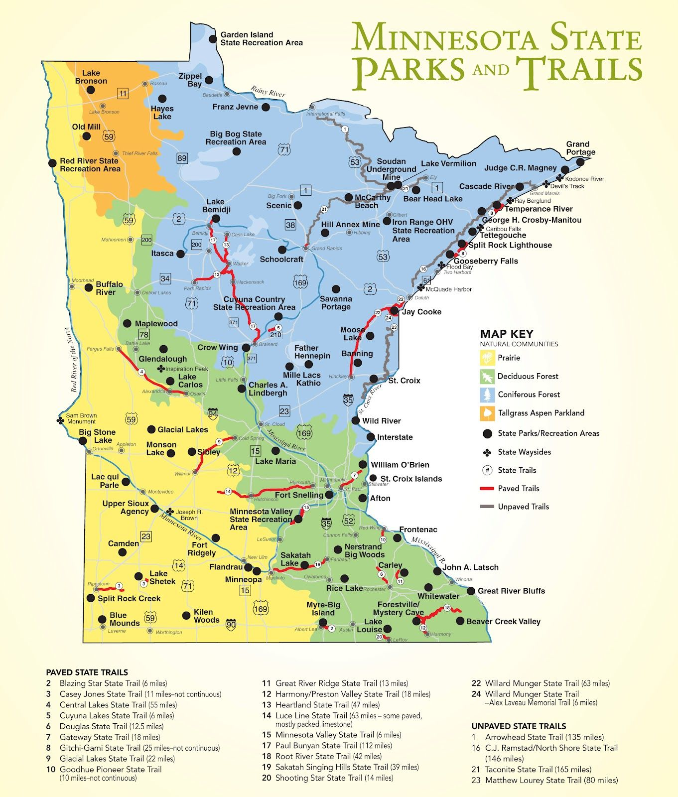 Map of MN state parks We plan to do them all – Minnesota Tourist Attractions Map