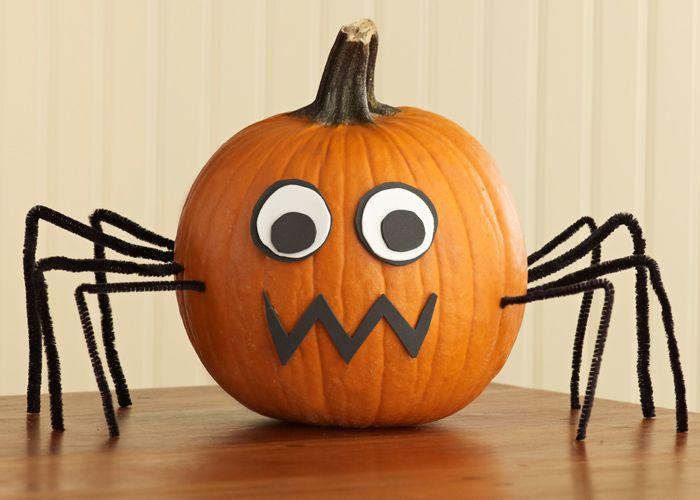 Pumpkin Spider Create This Eight Legged Pumpkin In No Time With