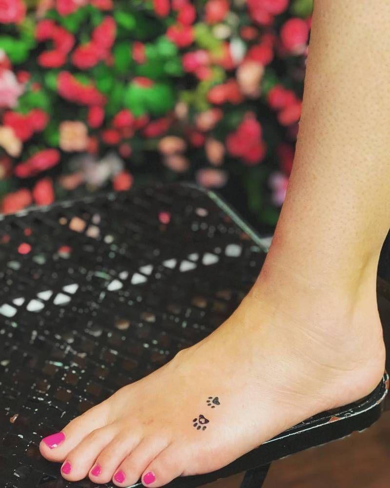 Paw Print Tattoo Paw Print Tattoo Foot Tattoos Foot Tattoos For Women