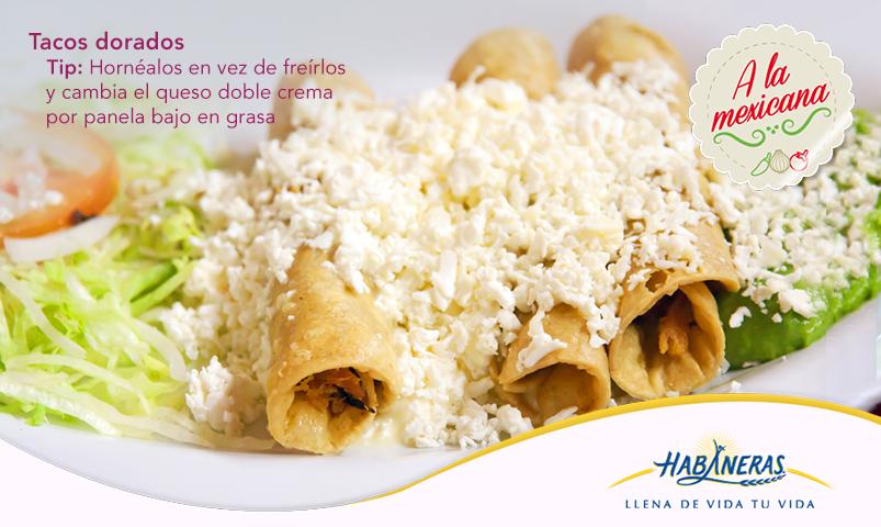 Por su variedad, sazón y riqueza cultural, nuestra cocina es una de las más importantes del mundo y hoy es uno de los mejores días para preparar platillos típicos como los tacos dorados, pero con un giro saludable. Disfruta sin culpas y ¡viva México!