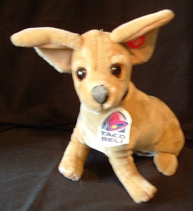 1998 Taco Bell Yo Quiero Talking Chihuahua Dog Toy 12 Plush