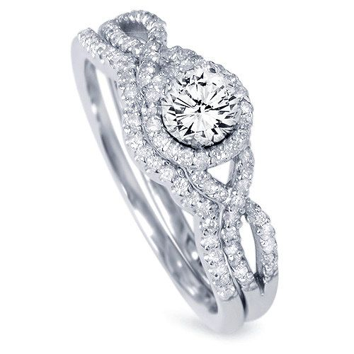 12 best images about wedding rings on pinterest halo white gold and wedding ring - Wedding Ring And Band Set