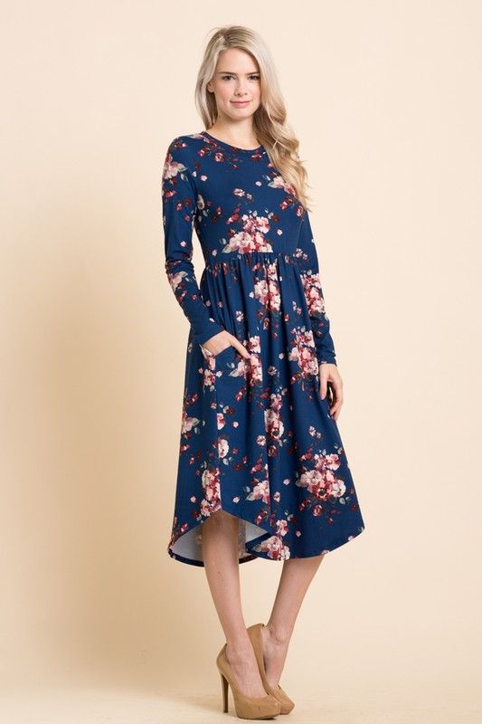 dcebba334a0 Midnight Blossom Midi Dress in 2019
