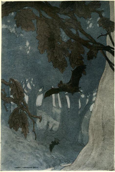 Charles Livingston Bull, 1913-Illustration for Folks of the Wood.