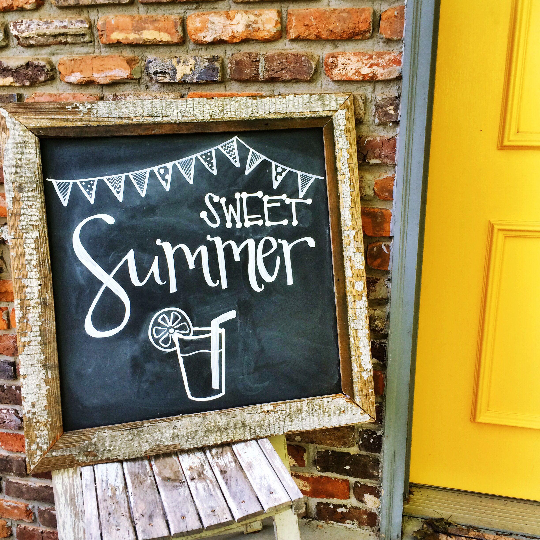 Fun summer chalkboard from jubileeknoxchalks on for Kitchen chalkboard designs