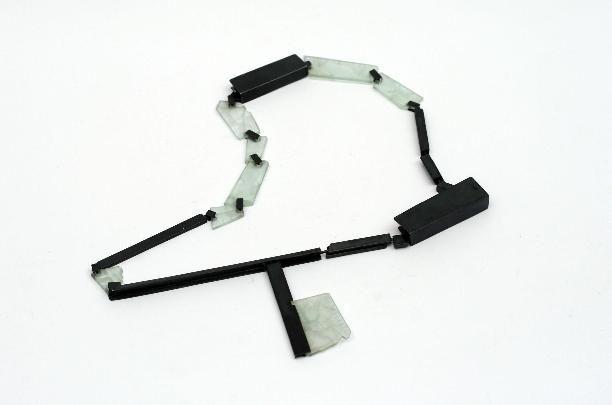 Tu necklace by Estela Saez - Spain          silver/gold/fluorite