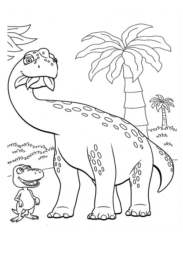 kleurplaat: dino | coloriages dessins animés | dinosaurios