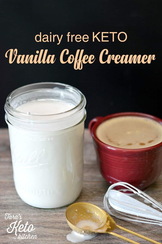 Dairy free keto vanilla coffee creamer 1 carb recipe