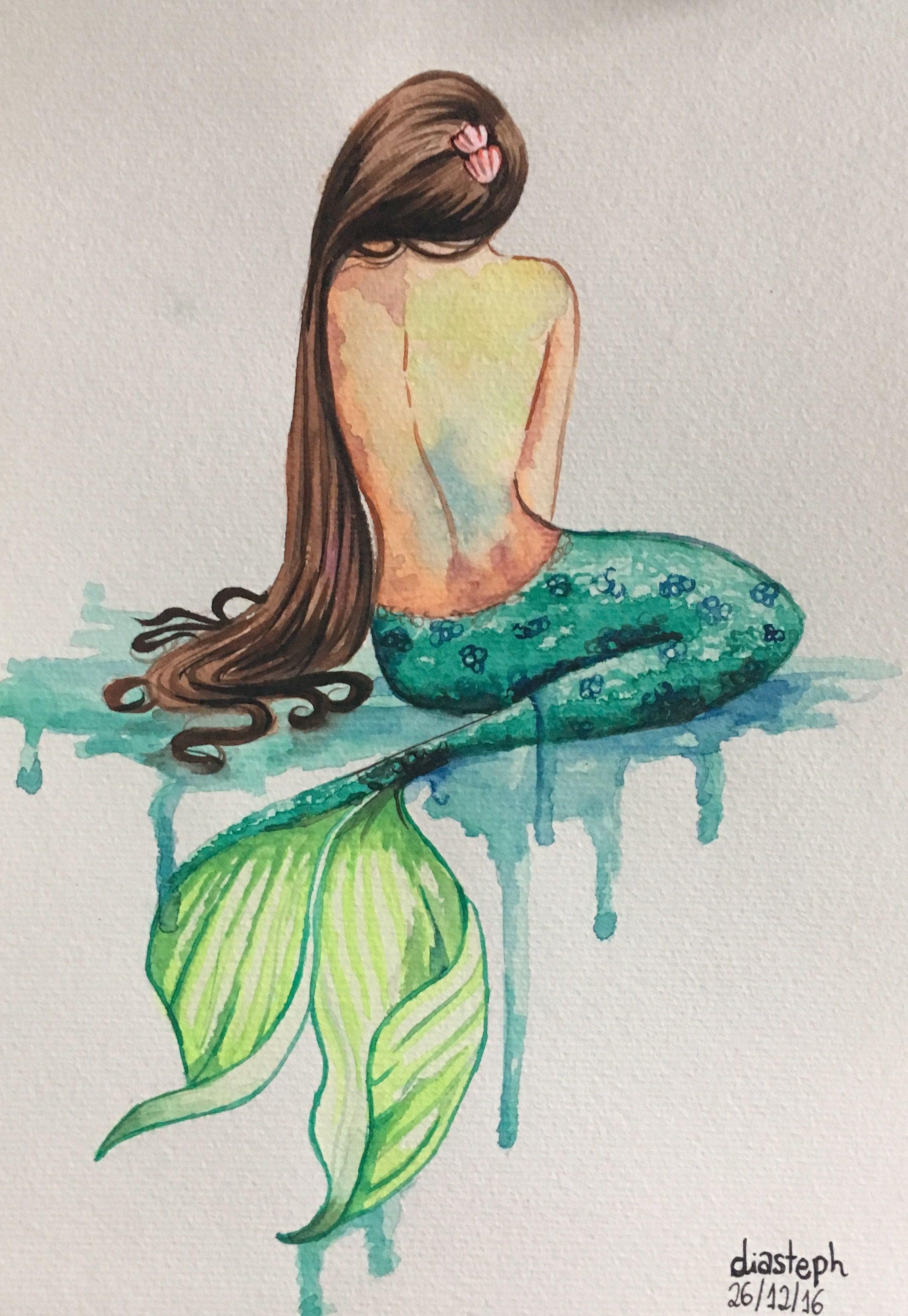 Pin By Rogelio Gutierrez On Ideas Para Trabajar In 2020 Watercolor Mermaid Mermaid Drawings Mermaid Painting