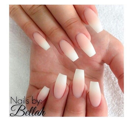 Ombre French Tip Coffin Nails Nails Acrylic Nails Coffin Nails
