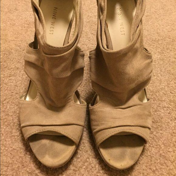 Tan Suede Heels Super cute tan heels. Gently worn. Shoes Heels