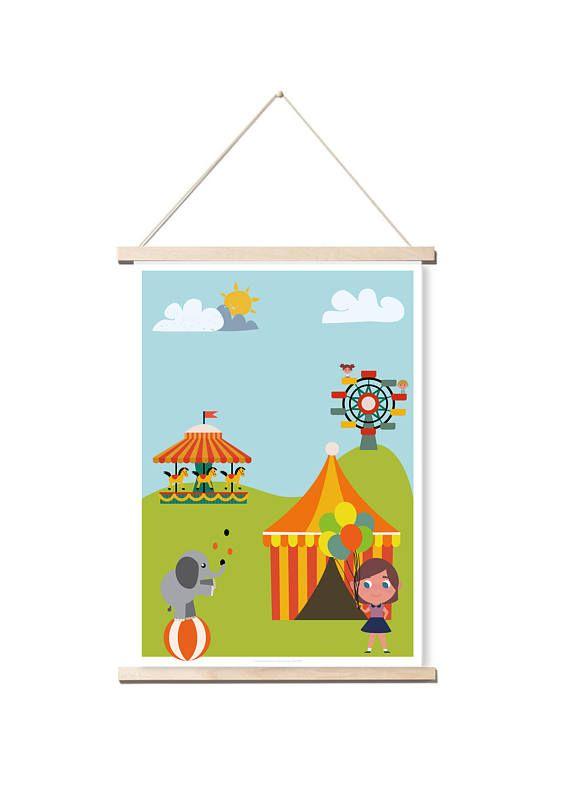 Voici une illustration originale pour décorer la chambre des enfants